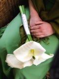 Brautjungfernblumenstrauß Stockbild