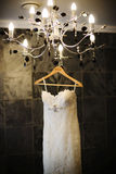 Brautkleid auf Anzeige Lizenzfreies Stockfoto