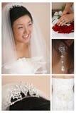 Brautkombination Stockfoto