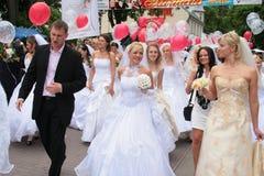 Brautparade 2010 Stockbild
