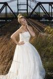 Brautschönheit mit der Fischerei Pole Stockfotografie
