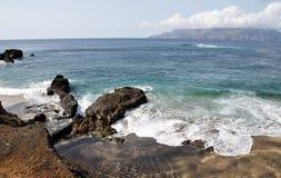 Brava as seen from the shores of Djeu Stock Photos