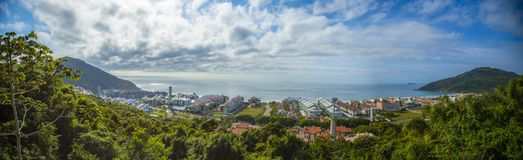 Overview of the Brava Beach Viewpoint Florianópolis royalty free stock images