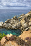 brava costa de在西班牙tossa附近的landscape 3月 库存照片