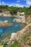 brava costa de landscape lloret χαλά κοντά στην Ισπα&n στοκ εικόνα