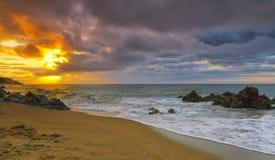 brava costa de Mar polityk sant Spain fotografia royalty free