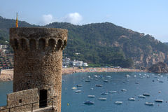 brava costa de Mar portowy tossa Zdjęcie Royalty Free