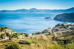 Brava de la costa, Portbou, España Fotografía de archivo libre de regalías