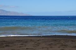 Brava i Czarna piasek plaża Obraz Royalty Free