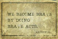 Brave acts Aristotle Stock Photo