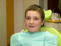 Brave boy waiting for examination Royalty Free Stock Photography