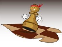 Brave chess figure Stock Photos