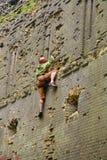 Brave Climber Climbing Up Stock Photography