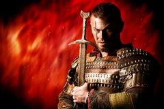 Brave conqueror Stock Image