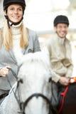 Brave horsewoman Royalty Free Stock Photos