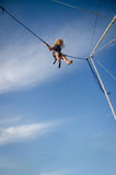 Brave jumping high up in skies Royalty Free Stock Photos