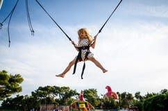 Brave kid jumping Royalty Free Stock Photos
