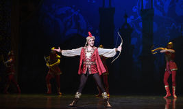 """Brave king- ballet """"One Thousand and One Nights"""" Royalty Free Stock Photos"""
