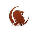Brave Lion ancient emblem animal element. Heraldic vector design Royalty Free Stock Image