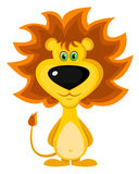 Brave lion. Brave cartoon lion on whtite background Stock Images