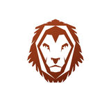 Brave Lion King face emblem animal element. Heraldic Coat of Arm Royalty Free Stock Images