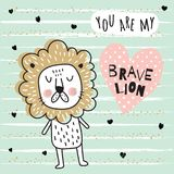 Brave lion Stock Photos