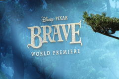 Brave movie billboard. Brave billboard displayed at premiere Stock Photos