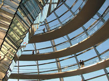 Brave new world. This is the new cupola of the Reichstag in Berlin, Germany Royalty Free Stock Images