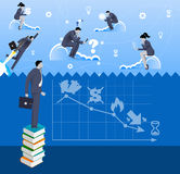 Brave new world business concept Royalty Free Stock Image