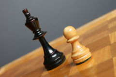 A brave pawn Royalty Free Stock Images