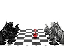 Brave pawn Royalty Free Stock Images