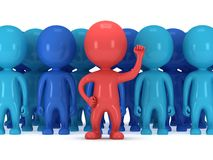 Brave red leader before a crowd Royalty Free Stock Images