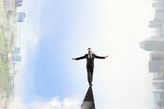 Brave and risky guy. Mixed media Stock Photo