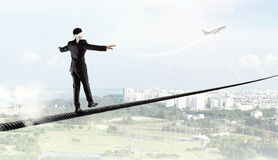 Brave and risky guy. Mixed media Stock Photography