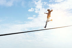 Brave and risky guy. Mixed media Stock Photos