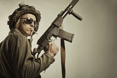 Brave soldier Stock Images