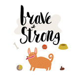 Brave and strong Royalty Free Stock Images