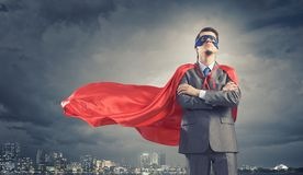 Brave super hero Royalty Free Stock Photography