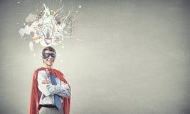Brave super hero Stock Image