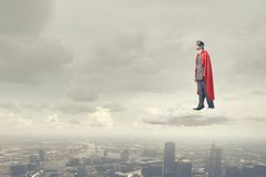 Brave super hero Stock Photo