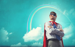 Brave super hero Royalty Free Stock Image