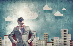 Brave super hero Royalty Free Stock Images
