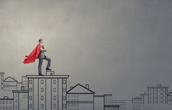 Brave super hero Stock Photography