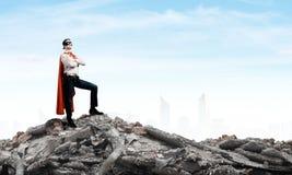 Brave superhero Royalty Free Stock Photos