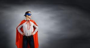 Brave superhero Stock Photography