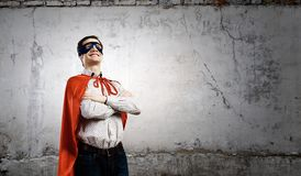 Brave superhero Royalty Free Stock Photos