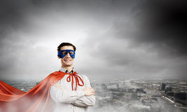 Brave superhero Royalty Free Stock Image