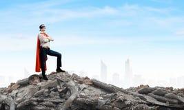 Brave superhero Stock Photo