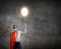 Brave superhero Stock Image