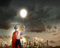Brave superhero Stock Photography